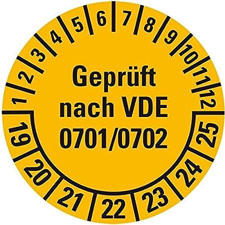 Prüfplaketten Geprüft nach VDE 702 15 Stück Ø 30mm