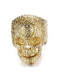 Stainless Steel Skull Head Rings for Men Women Vintage Gothic Rings