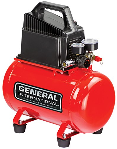 General-Intl-Power-Products-AC1200-Portable-3-gallon-Oil-Free-Air-Compressor-06-CFM-115-PSI-Red