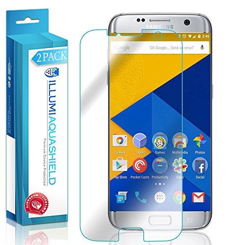 Galaxy S7 Edge Screen Protector (Case Friendly,Updated Version) [2-Pack], ILLUMI AquaShield Full Coverage Screen Protector for Galaxy S7 Edge HD Clear Anti-Bubble Film