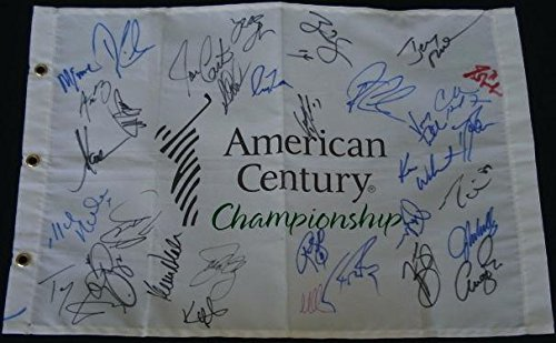 Lake Tahoe Celebrity Golf Autographed Flag (33 Signatures!) Autographed Pin Flags