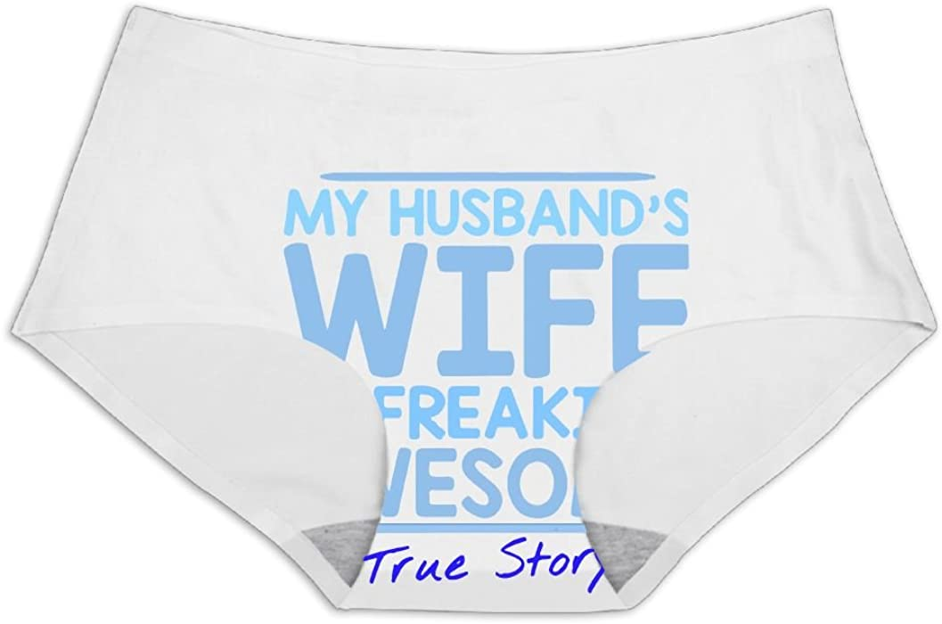 Amazon.com: My Husbands Wife Is Freaking Awesome True Story Women's  Seamless Ice Silk Sexy Full Coverage Panties: Clothing