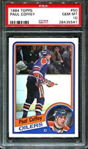 1984 Topps #50 Paul Coffey Oilers Hof Pop 7 Psa 10 H2526313-541