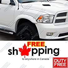 09-15 Dodge Ram 1500 Pocket-Riveted Style Black Fender Flares 4pcs Set
