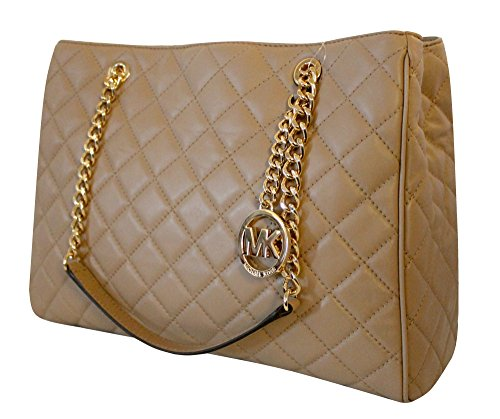 Michael Kors Susannah Womens Large Quilted Leather Handbag (DK KHAKI)
