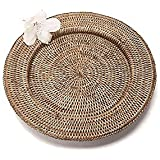 """Artifacts Trading Company Rattan Charger, 13""""L x 13"""" W"""