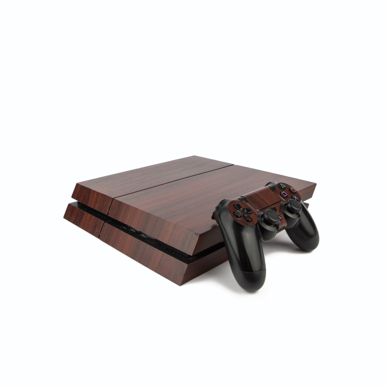 Amazon.com: Premium PS4 PlayStation 4 Wood Effect Vinyl Wrap ...