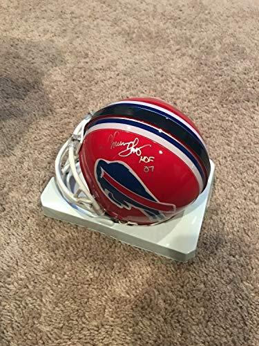 Thurman Thomas Andre Reed Autographed Signed Buffalo Bills Mini Helmet PSA ()