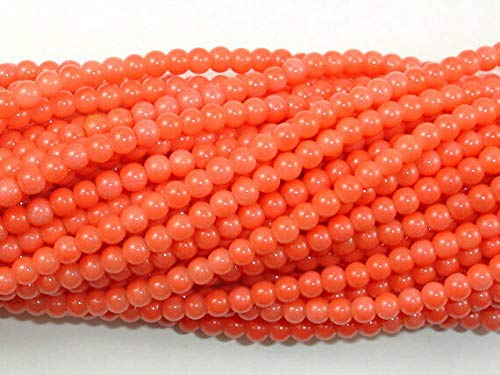 Bead Jewelry Making Art Craft Pink Coral Beads, Angel Skin Coral, 3mm (3.4 mm) Round, 16 Inch ()
