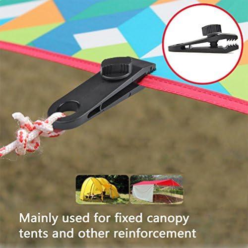 Noir ATPWONZ 6 pi/èces Clip de B/âche Pinces en Plastique Tente Snaps pour Activit/és Camping Canopy