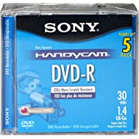 Sony 8cm DVD-R with Hangtab 5 Pack