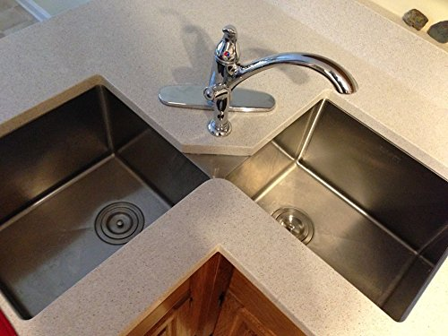 "Ruvati Rvh8400 Undermount Corner Kitchen Sink 16 Gauge 44"" Double"