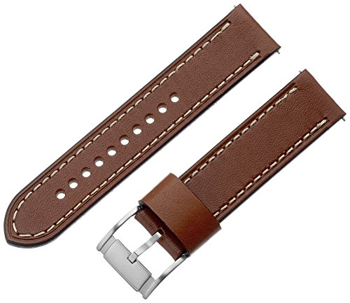 Fossil Brown Leather Strap - Fossil S221243 22mm Leather Calfskin Light Brown Watch Strap