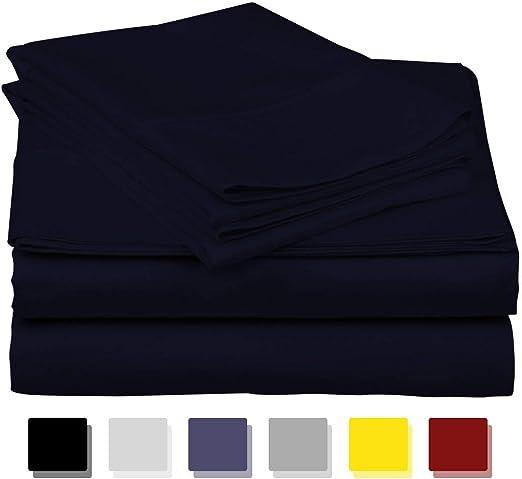 LUXURIOUS BEDDING Juego de sábanas de algodón Egipcio de 800 Hilos ...