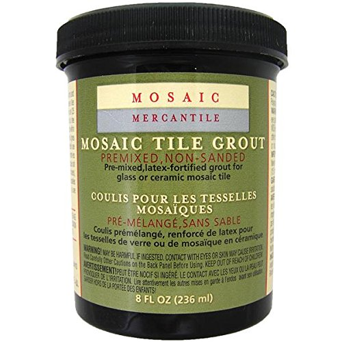 Mosaic Mercantile Premix Grout, 8-Ounce, Black ()