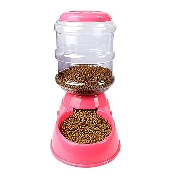 SYAODU Pet supplies Alimentador automático para Mascotas para Perros Dispensador alimentador para Mascotas 3.5L para