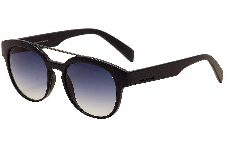 Italia Independent 0900C I-GUM 021 000 Dark Blue Crackle Plastic Sunglasses Blue Gradient Lens
