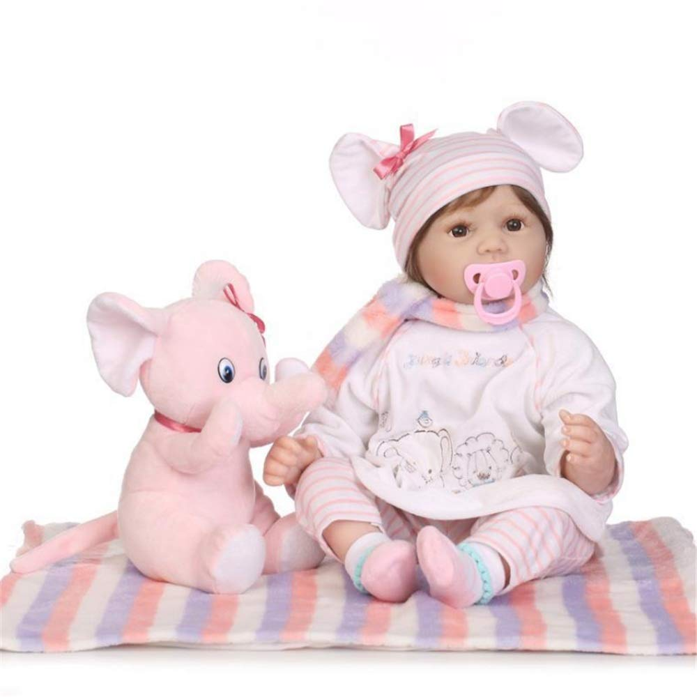 Kids Beach Toys Baby Alive Doll With Toy Elephant Realistic Pretend Role Play Kids Toys Cute Newborn Rewborn Nursery Baby Girl Doll Lifelike With Clothes Hat Feeding Toys Baby Toddlers Infants Girls B