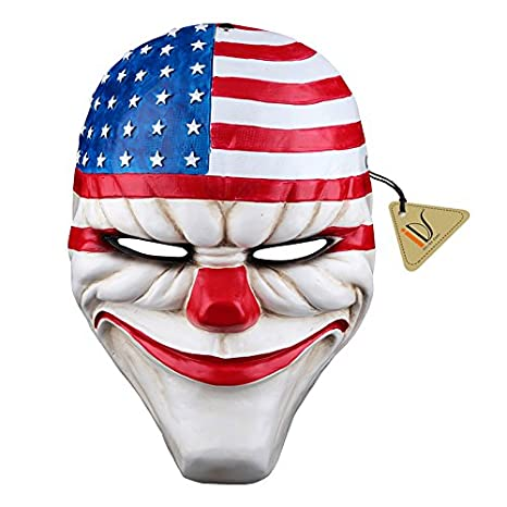 <b>Amazon</b>.com: IDS Home Halloween Resin Dallas Heist Mask Clown <b>Joker</b> ...