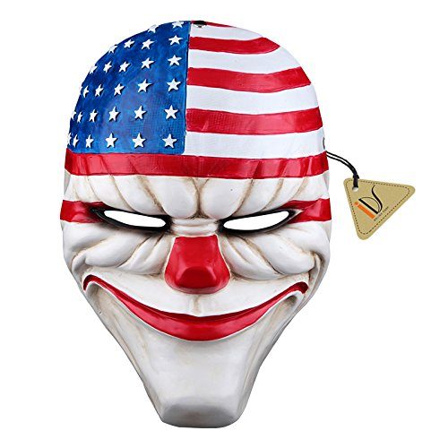 IDS Home Halloween Resin Dallas Heist Mask Clown Joker Cosplay Costume -