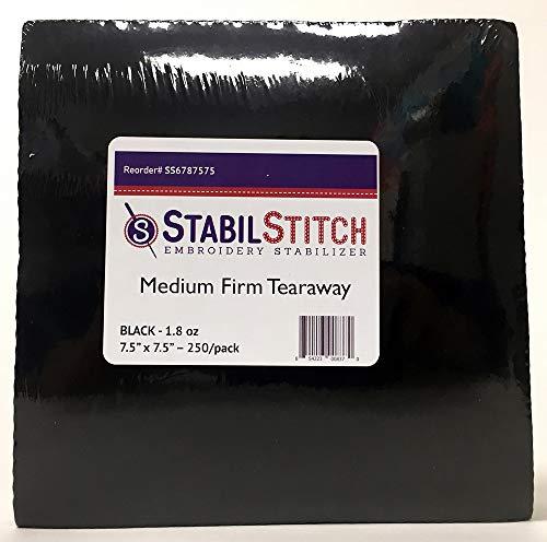 Black Medium (1.8 oz) Firm Tearaway 7.5