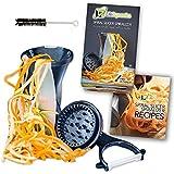 Life Dynamics Spiralizer, Spiral Slicer, Zucchini Pasta Maker, Vegetable Slicer HandHeld Black