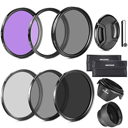 Neewer 58MM Lens Filter Accessory Kit((UV, CPL, FLD) for CANON EOS Rebel T5i T4i T3i T3 T2i T1i XT XTi XSi SL1 DSLR Cameras