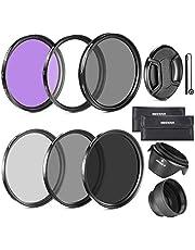Neewer 52MM Lens Filter Kit:UV, CPL, FLD, ND2, ND4, ND8 and Lens Hood, Lens Cap for Nikon D7100 D7000 D5200 D5100 D5000 D3300 D3200 D3100 D3000 D90 D80 DSLR Cameras