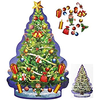 Amazon Com Educational Christmas Tree Floor Puzzle 29pc