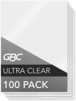 Gbc Laminating Sheets Thermal Laminating Pouches Menu Size 5mil Heatseal Ultraclear 100 Pack 3200418 Amazon Ca Office Products