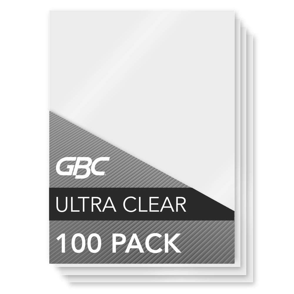 GBC Laminating Sheets, Thermal Laminating Pouches Menu Size, 5mil, HeatSeal UltraClear, 100 Pack (3200418) by GBC