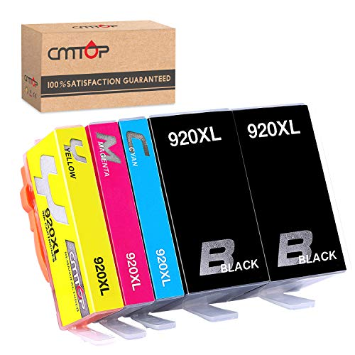 CMTOP Replacement for HP 920XL 920 XL Ink Cartridges, Compatible with HP Officejet 6500A 6500A Plus 6500 7500A 7000 6000 7500 Printers (2BK, 1C, 1M, 1Y) ()