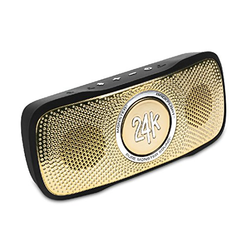 Monster SuperStar 24k BackFloat HD Bluetooth Speaker, Black/Gold