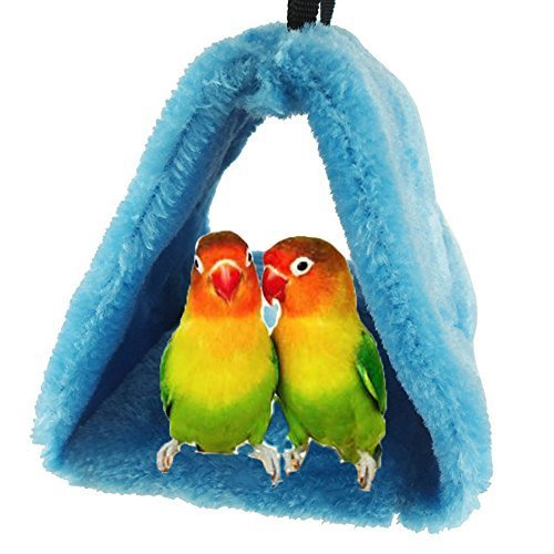 Bird Nest House Hut Hammock for Parrot Budgies Parakeet Cockatiels Cockatoo Conure Lovebird Finch Diamond doves Cage Toy (Random Color)