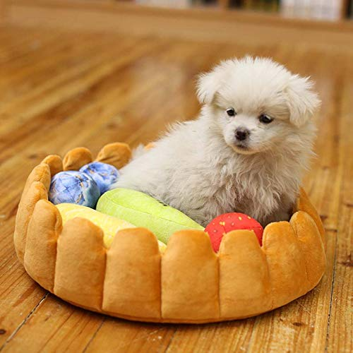 Dog House - 2019 Cute Pet Dog Fruit Tart Bed Pad Keep Warm Kennel Cat Sleep Mat Nest House - Vent Ventilation Outside Build Line Underground View Nest Gate Deck Insulated Conditioner Cage Ha