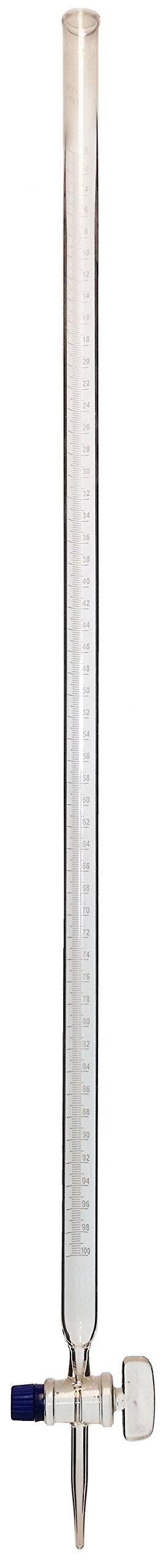 Glass burette w/ Glass Stopcock 100ml