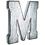 Huge 20'' Metal Alphabet Wall Décor Letter M Rusted Edge Galvanized Metal