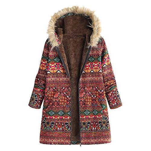 Belted Shearling Belt - Dressin Women's Cotton Plus Size Vintage Fleece Thick Zipper Long Sleeve Winter Hooded Jacket Coat