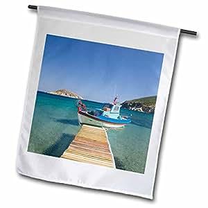 Danita Delimont - Fishing Boats - GREECE, Dodecanese, PATMOS, Fishing boat - EU12 WBI1132 - Walter Bibikow - 18 x 27 inch Garden Flag (fl_81888_2)