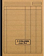 3 Column Ledger Book: Large 8.5 x 11 Columnar Pad 3 Columns   Simple All Purpose Blank Accounting 3 Column Ledger Book for Home or Business   Analysis Pad   Logbook for Bookkeeping to Record Income, Expenses and Finances