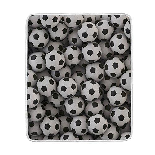 ALAZA Soccer Ball Football Plush Throws Siesta Camping Trave