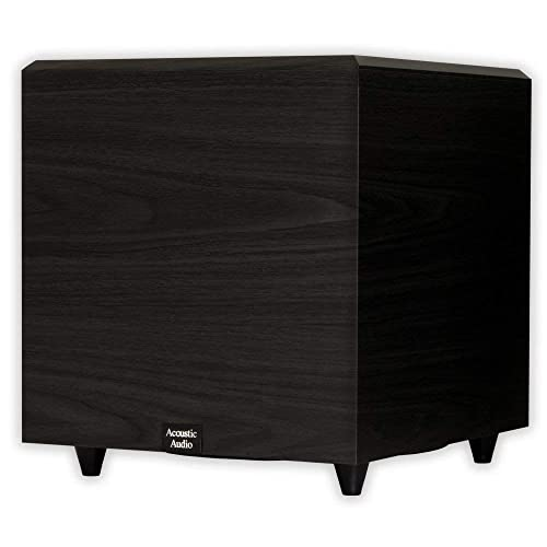 Acoustic Audio PSW12 Home Theater Powered 12 Subwoofer Black Down Firing Sub