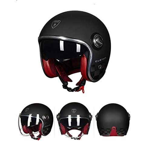 Half Open Face Open Face Casco Moto Casco Moto Custom Cafe ...