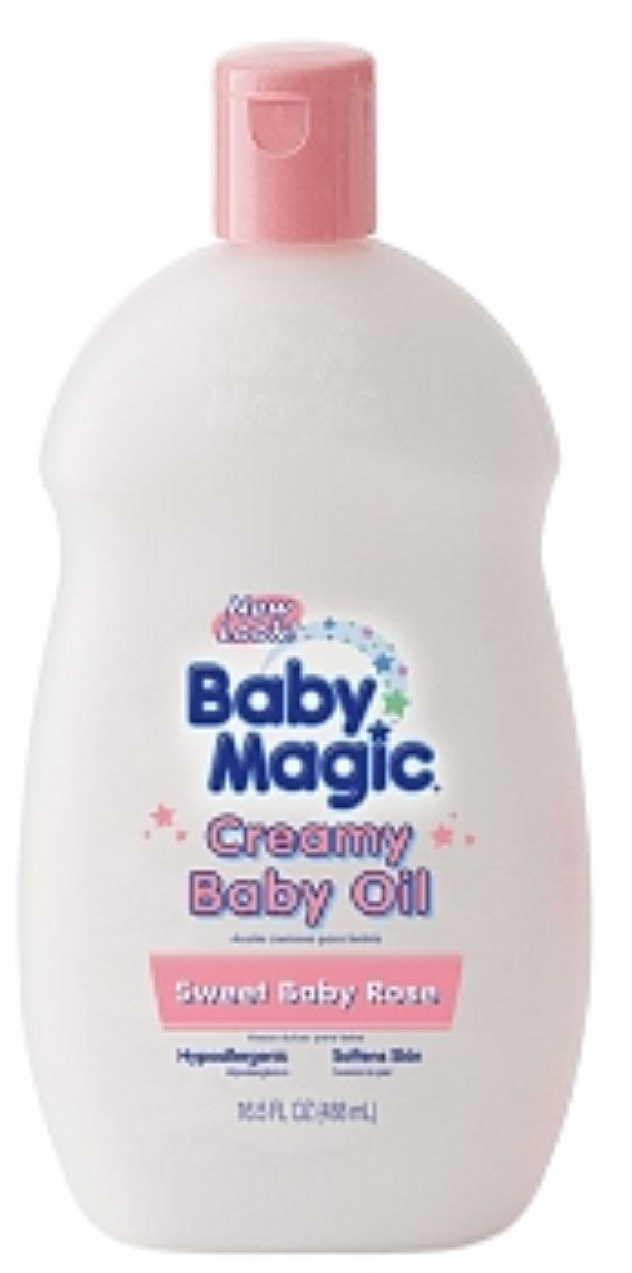Baby Magic Creamy Baby Oil, Sweet Baby Rose 16.5 oz (Pack of 5) by Baby Magic
