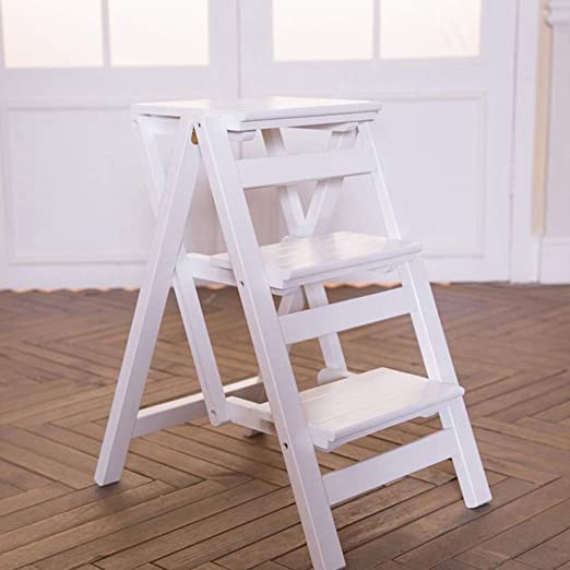 Taburete de Escalera Taburete Plegable de Escalera, Estante de ...