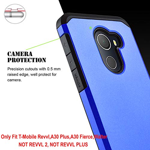 STARSHOP T-Mobile REVVL Case, Alcatel A30 Plus Case, Alcatel A30 Fierce  Case, Jitterbug Smart 2 Case, with [Premium Screen Protector] [Shock