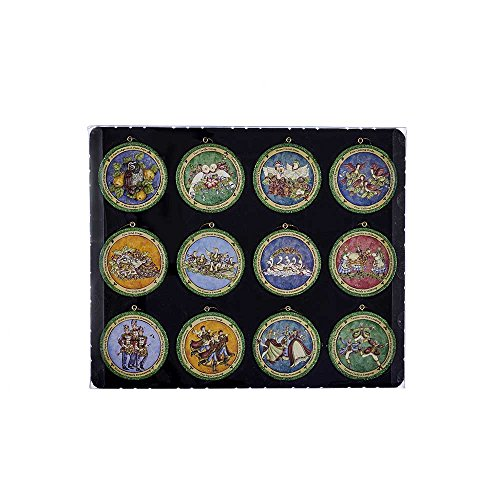 Kurt Adler 3-Inch Resin Twelve Days of Christmas Disc Ornament Set of - Of 12 Ornaments Christmas Days