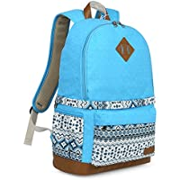 Koolertron Professional Cute Canvas Camera Case / Backpack with Rain Cover for SLR DSLR Canon Nikon Sony Camera Bag Fits for 15 Laptop(Blue-2)