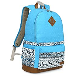 "Koolertron Professional Cute Canvas Camera Case Backpack With Rain Cover For Slr Dslr Canon Nikon Sony Camera Bag Fits For 15"" Laptop(blue-2)"