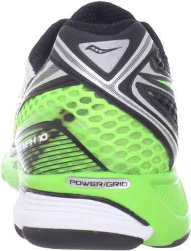 SAUCONY Triumph 10 Zapatilla de Running Caballero Blanco/Negro/Verde